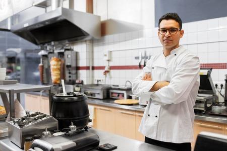 chef at kebab shop