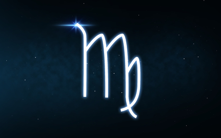 virgo sign of zodiac over night sky and stars Stock fotó