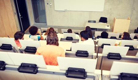 International students at university lecture hall Standard-Bild - 119655837