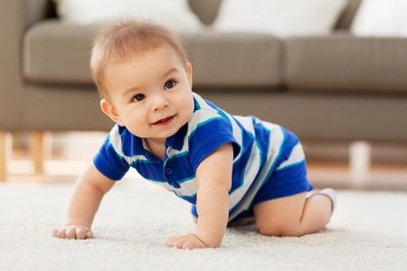 Babyhood, childhood and people concept - sweet little Asian baby boy