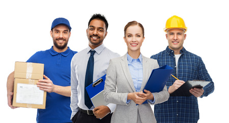 group of office people and manual workers Stockfoto
