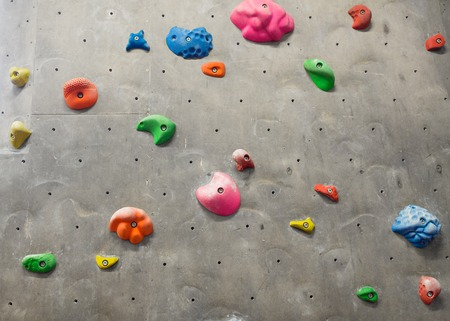 Exercise wall at indoor climbing gym