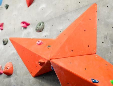 Übungswand in der Kletterhalle