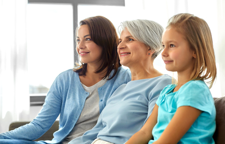 portrait of mother, daughter and grandmother Stock Photo