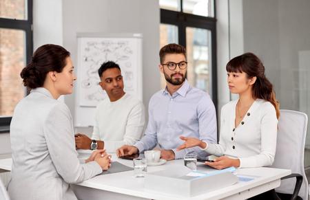 recruiters having job interview with employee Stock Photo - 124311309