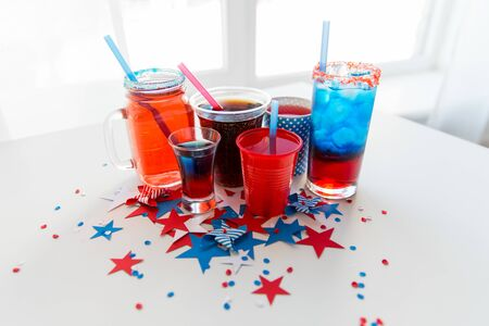 drinks on american independence day party Stock Photo