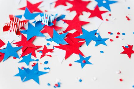 Paper star confetti decoration on independence day