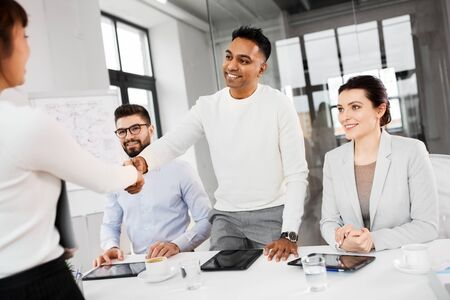 recruiters having interview with employee Stock Photo - 126315439