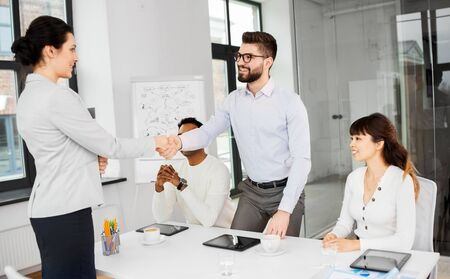 recruiters having interview with employee Stock Photo - 126672063
