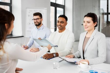 recruiters having job interview with employee Stock Photo - 126743069