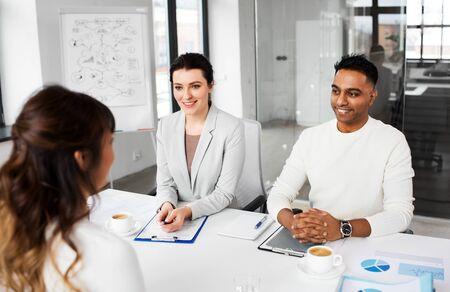 Recruiters having job interview with employee Stock Photo - 127391447
