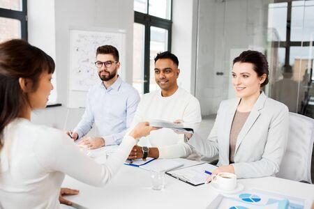 recruiters having job interview with employee Stock Photo - 128856110