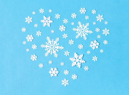 snowflake decorations in shape of heart