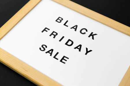 magnetic board with black friday sale words