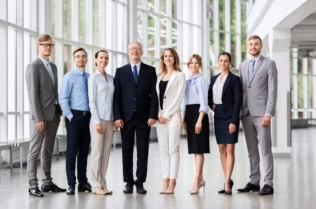 business people at office building Banque d'images