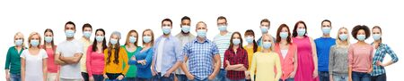 people in medical masks for protection from virus Stock Photo