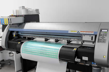 large format printer in printing house