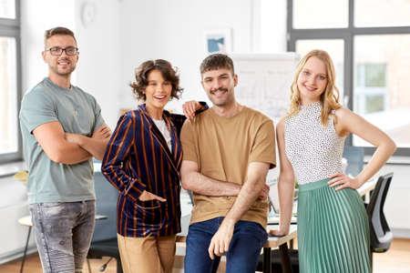 happy business team at office Standard-Bild
