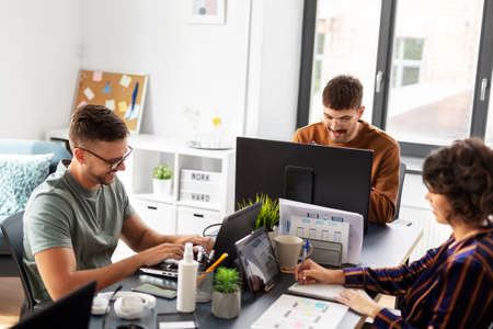 business team or startuppers working at office