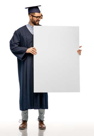 graduate student or bachelor with white board