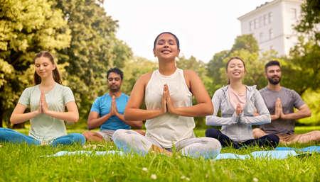 Yoga Class Indian Stock Photos and Images - 123RF