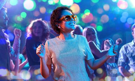 african american woman dancing at nightclub