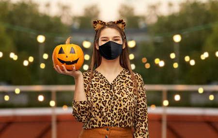 woman in black mask and halloween costume Zdjęcie Seryjne