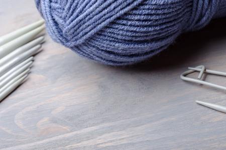 Handmade knitting and crocheting crafts 写真素材