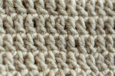 Crocheted or knitted Texture Close up, Fabric background