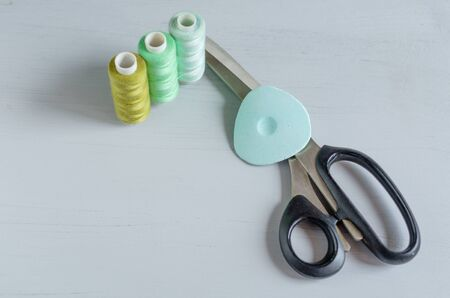 Set of sewing tools and accesories 免版税图像