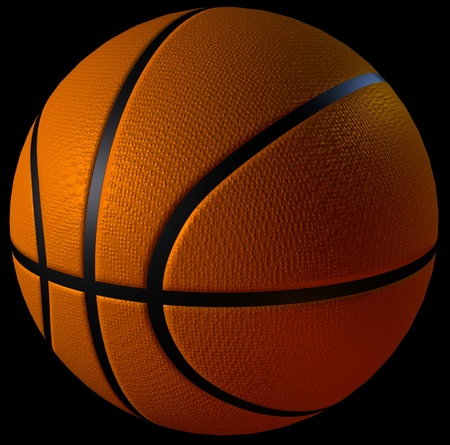 cgi: 3d cgi computer rendered basketball