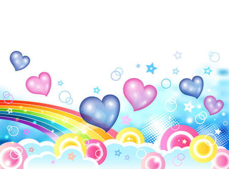 cuteness: Background Collection Vol.01_ Sweet love Illustration