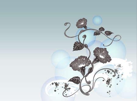 배경 콜렉션 Vol.01_A 신선한 나팔꽃