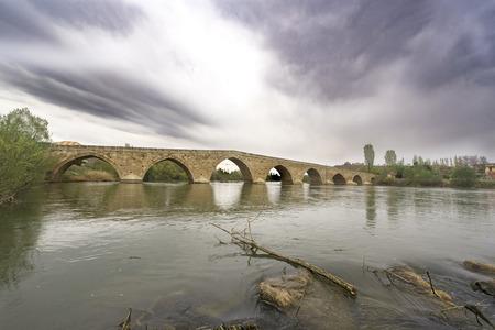 A beautiful bridge lying over a river.