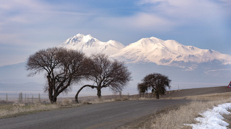 A full view - snowy mountains