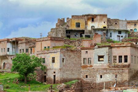 Old wreck houses - village 版權商用圖片