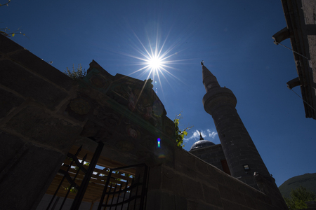 Silhouette mosque and star Stock fotó