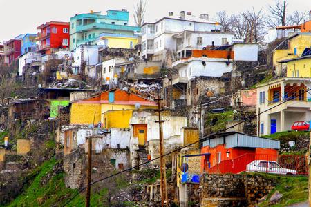 Nighthouse houses - Gecekondu houses 版權商用圖片