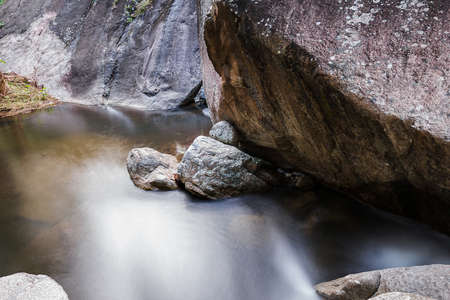 nant: Mountain creek in the national park, long exposure