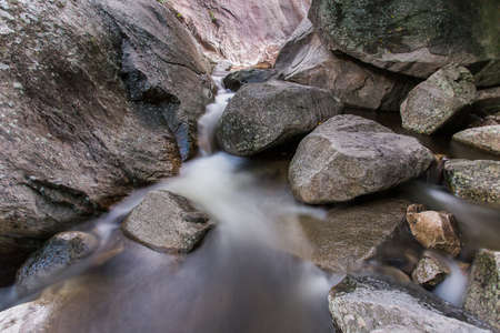 spruit: Mountain creek in the national park, long exposure