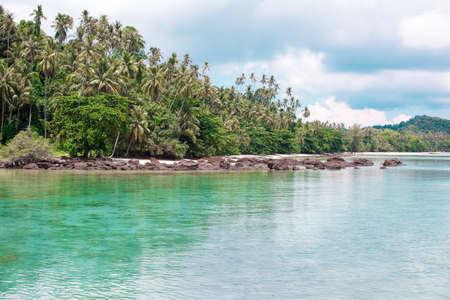Landscape of tranquil island koh mak thailand