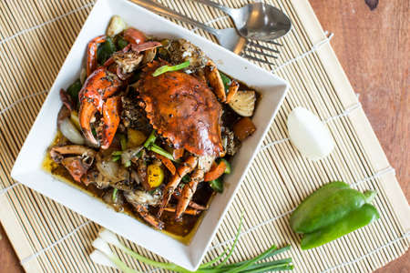 fried crab with black pepper
