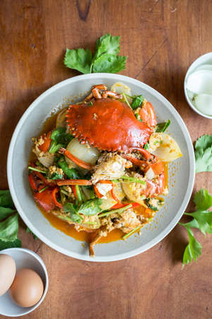 crab meat: Fried crab with curry powder