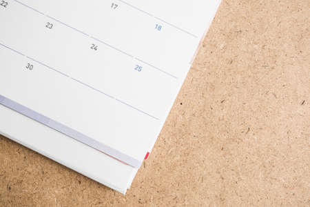 marked boxes: calendar with Christmas Day Stock Photo