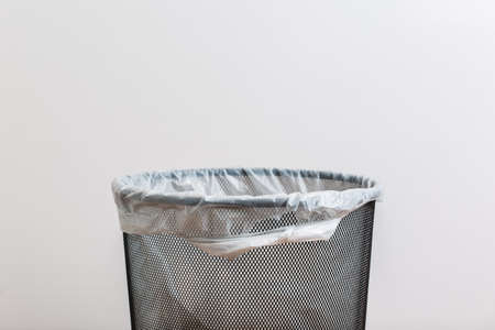 clean office: Empty trash with a plastic bag