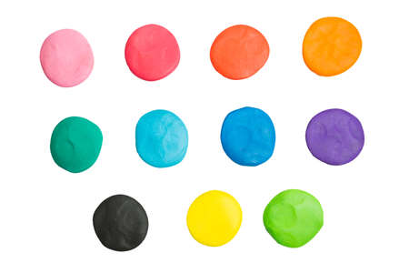 malleable: circle clay of different colors
