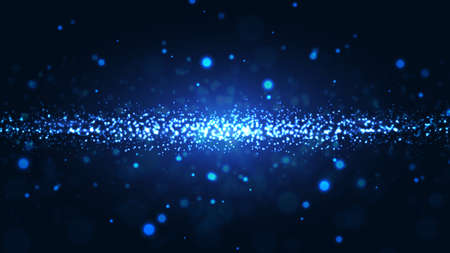 Shining abstract particles background. Dynamic particle explosions background from the arrangement of millions of luminous particles. Eps10 vector illustration Vectores