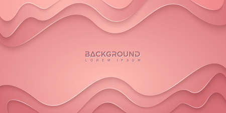Pink background with wavy shapes in 3D style. Can be used for posters, placards, brochures, banners, web pages, headers, covers, and other. Çizim