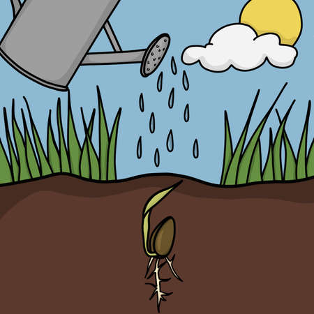 Planting a seed Ilustrace