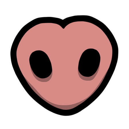 Heart Shaped Pigs Nose
